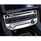 For Jaguar XE F-Pace F pace 2016 2017 2018 ABS Matt Silver Center Air conditioning Mode Button Frame Trim Car Accessories