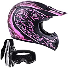 Everything you expect from TYPHOON HELMETS. This helmet, glove and goggle combo is loaded with features including:  Helmet:   Meets Department of Transportation (DOT FMVSS218) requirements   Liner is easily removable & machine washable   ...
