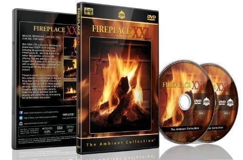 Kaminfeuer DVD - Kaminfeuer XXL - 2 DVD Set mit extra langen Kaminfeuern und dem Knistern von brennendem Holz