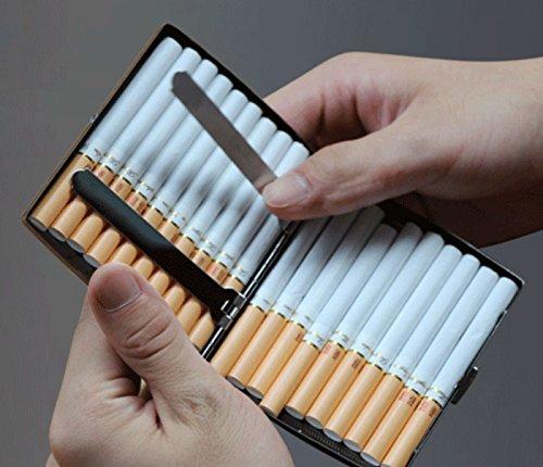 Cadeau Argent Housse Boîte Cigarettes Nickelé Inoxydable Léger Pour Argent En Cigare X Homme 9 Etui 80 Accessoires 13 Elegant 8 Mm Kuboy Acier À 90 RpgCgq