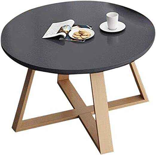 Amazon Com Coffee Table Sleek Minimalist Round Coffee Table Living Room Sofa Side Table Simple Leisure Table Personalized Balcony Tea Table Strong And Firm Color Black Size 80x45cm Furniture Decor