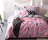 Beauty Decor Romance Theme Duvet Cover Set Lovely Girls Bedding Sets Lightweight Microfiber Comforter Cover with Pillow Shams, King Size