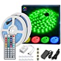 MINGER LED Strip Lights Kit, Non-Waterproof 2x5m(32.8Ft in Total) 5050 RGB 300led Strips Lighting with 12V 4A Power Supply + 44 Key IR Remote Ideal for Home,Kitchen Lighting,Christams Decorations