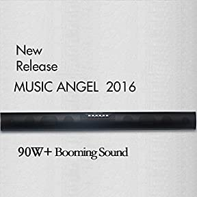 REMOTE IMPROVE MUSIC ANGEL 35-Inch TV Sound bar & Satellite Speakers Wireless Subwoofer Stereo Speaker Bluetooth...