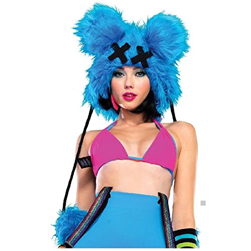 Dead Mouse Furry Hood Costume Accessory Adult Halloween