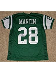Signed Curtis Martin Jersey - Ny #28 Green - PSA/DNA Certified - Autographed NFL Jerseys