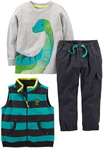 Simple Joys by Carter's Boys' Toddler 3-Piece Playwear Set