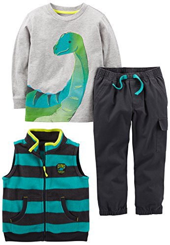 Simple Joys by Carter's Boys' Toddler 3-Piece Playwear Set, Dino, 3T