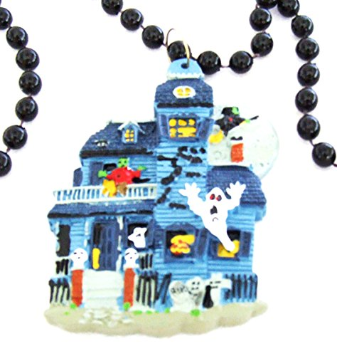 Haunted House Halloween Mardi Gras Bead Necklace Spring Break Cajun Carnival Festival New Orleans Beads