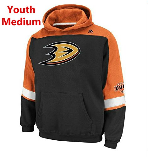 Majestic Anaheim Ducks Youth Size Medium Hoodie Hooded NHL Lil Ice Classic Sweatshirt - Anaheim Ducks Merchandise