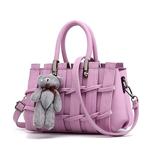 RUIREN Süße Dame Fashion Geprägte Handtasche Messenger Schultertasche Taro-purpur
