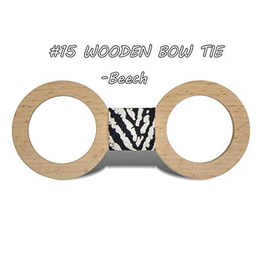 Pajarita de Madera Corbatas de lazo de madera Corbata de lazo de ...
