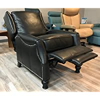 Ashton ll Leather Wing Recliner Color: Pearlized Black