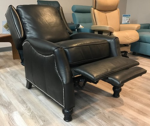 BarcaLounger Ashton ll Leather Wing Recliner Color Pearlized Black