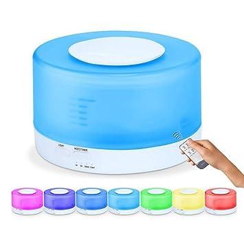 500ML Ultraschall Luftbefeuchter mit 7 Farben LED Leise für Büro Schlafzimmer DE