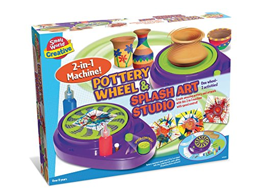 Small World Toys Creative - Pottery Wheel and Splash Art Studio