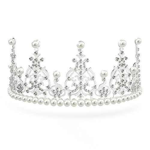 Shaly Elegant Wedding Bridal Crown Headband Birthday Tiara Charming Rhinestone Headpiece (Style 2)