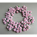 100-Pink-rose-15-mm-Artificial-Mulberry-Paper-Rose-Flower-Wedding-Scrapbook-DIY-Craft-Scrapbook-Scrapbooking-Bouquet-Craft-Stem-Handmade-Rose-Valentines-Anniversary-Embellishment