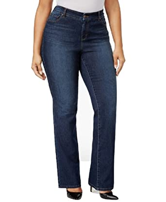 e08015b22 Image Unavailable. Image not available for. Color  Style   Co. Plus Size  Tummy-Control Bootcut ...