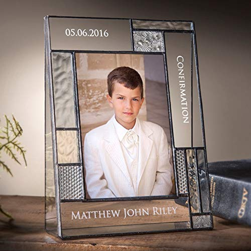 Personalized Confirmation Picture Frame 4x6 Vertical Photo Engraved Glass Keepsake Religious Gift for Boy or Girl J Devlin Pic 392-46V EP577