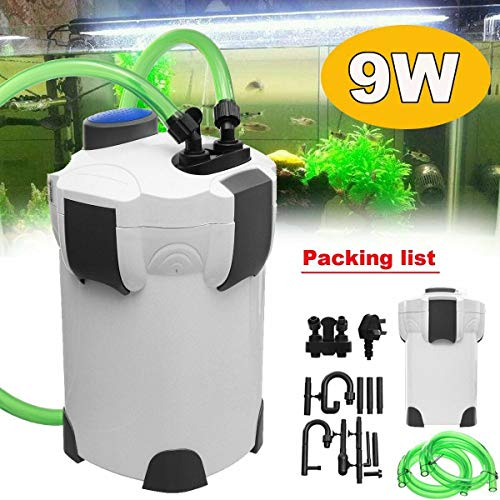 Burger 1PCS 2000L/h Aquarium External Canister Filter Fish Tank Pump + 9W Pipe UV Sterilizer