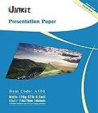 Presentation Paper Matte 8.5x11- 100Sheets Uinkit Double Side Matt Paper 6.5 Mil 130Gsm For laser and Inkjet Printer