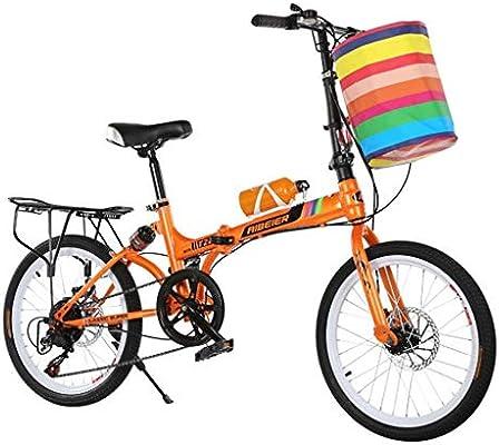 Paseo Bicicleta Plegable Bicicleta De Montaña De 20 Pulgadas con Cambio De Frenos De Disco Doble