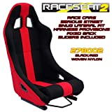 Performance World 278002 RaceSeat2 Racing Seat. Black Nylon w/Red Accents. Sold Each