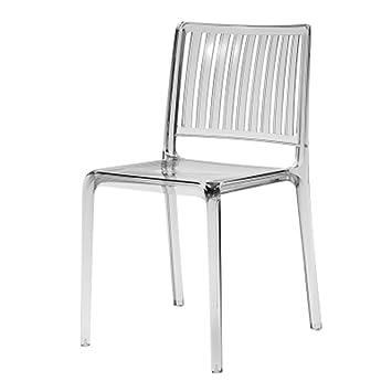 Designer Transparent Moderne Chaise De Cristal Mode Retour IEWHD29