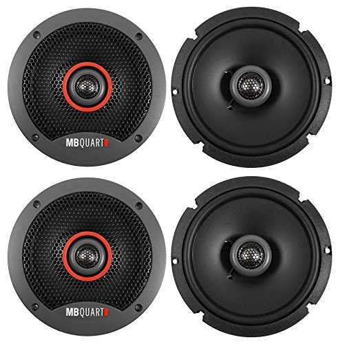 (4) MB QUART FKB116S 6.5″ 240 Watt Slim Shallow Mount Car Audio Speakers