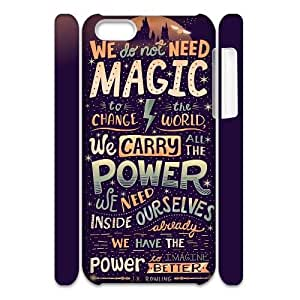YUAHS(TM) DIY 3D Phone Case for Iphone 5C with Harry Potter quote YAS928025