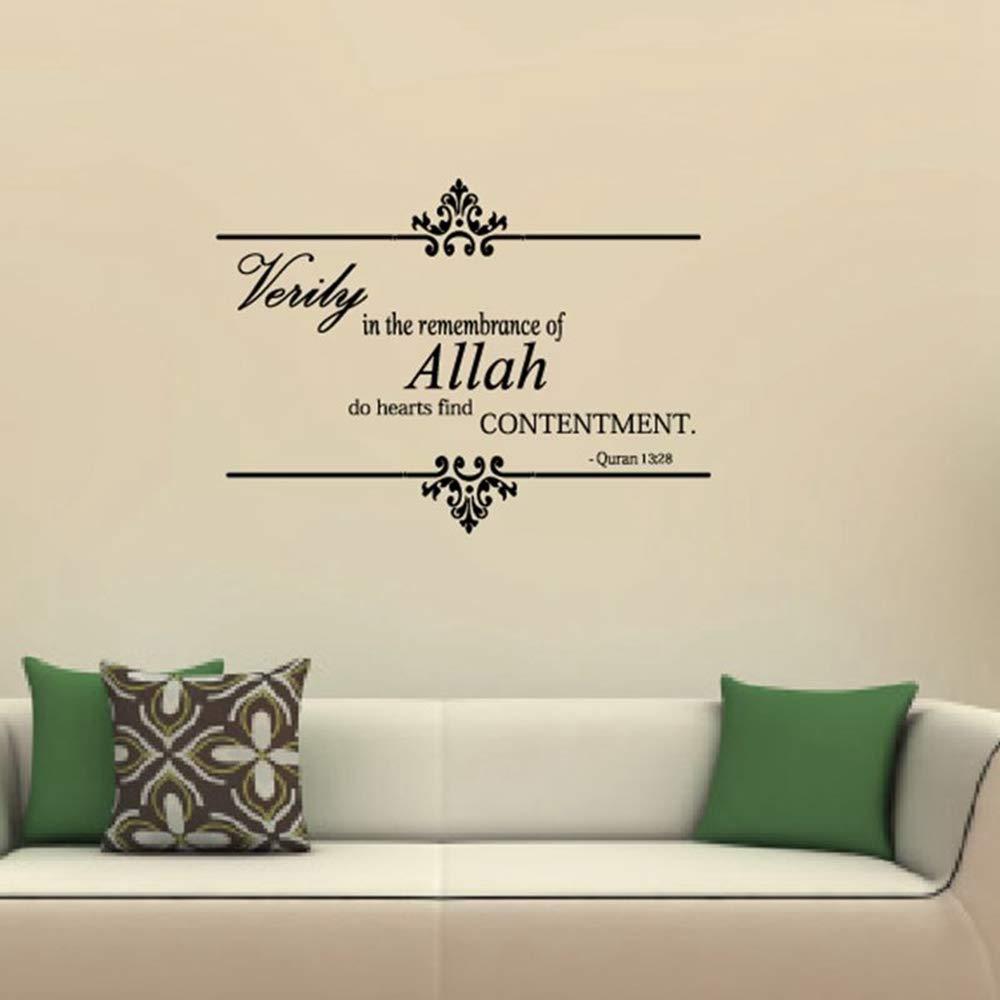Adhesivos de pared islámicos decoración de arte de la pared de Alá ...