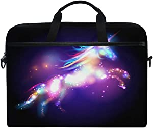 JOKERR Laptop Case Bag Galaxy Animal Unicorn 14 inch to 14.5 inch Briefcase Messenger Computer Sleeve Tablet Bag with Shoulder Strap Handle for boys girls
