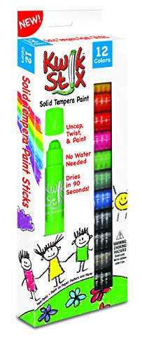 The Pencil Grip Kwik Stix Solid Tempera Paint, Super Quick Drying, 12 Pack - Fast Drying Paint