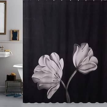 Amazon.com: Sfoothome Polyester Fabric Shower Curtain Waterproof/No ...