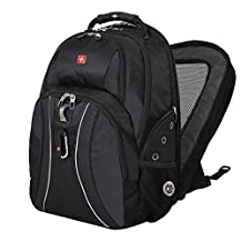 "Swiss Gear Swissgear 17"" inch Laptop Notebook Mac Book iPad Outdoor ScanSmart Backpack - Premium High Quality - Black"
