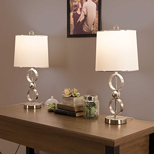 Nottingham Home Modern Table Lamp in Silver (Set of 2) by Generic (Image #1)