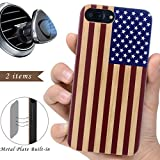 wood iphone 6 case made in usa - iProductsUS Wood Phone Case Compatible with iPhone 8/7/6 (NOT Plus) and Magnetic Mount-3D UV Printed Colorful US Flag Wooden Cases,Built-in Metal Plate,TPU Rubber Protective Shockproof Covers (4.7