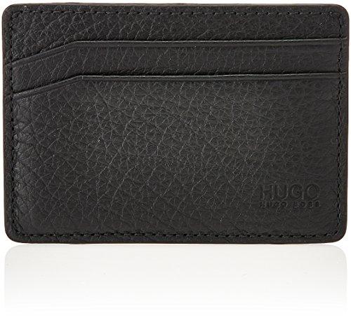 HUGO by Hugo Boss Men's Hugo Fashion Metal Money Clip Card Case, Victorian Money Clip Card Case Black, One Size