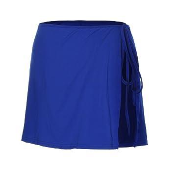 e5706ab189eda Sunbona Womens Swimwear Sloid Color Cover up Skirt Wrap Beach Sarong Swimsuit  Wrap Short Dress (