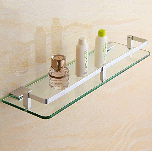 DGF Estante de cristal del acero inoxidable del cuarto de baño del hotel del cuarto de baño de la sola capa (tamaño multi...