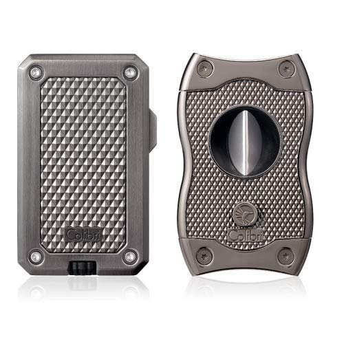 Colibri Rally Lighter SV Cutter Gift Set (Gunmetal)