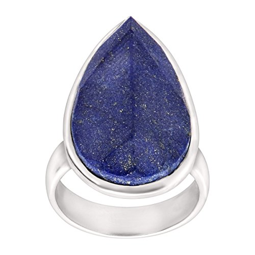 Silpada Deep Blue Natural Lapis Ring in Sterling Silver