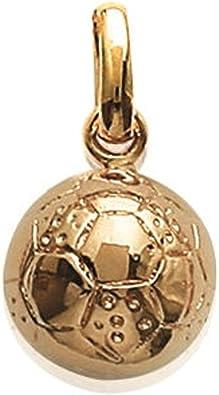 Colgante bañado en oro – Balón de fútbol – joyas mujer hombre ...