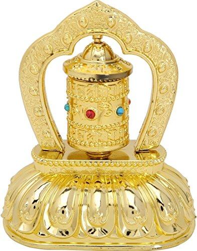 Creativegifts Feng Shui Solar Energy Prayer Wheel + Free Rudraksha Bracelet (Mani Wheel)
