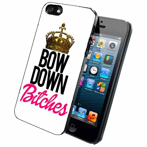 BleuReign(TM) Bow Down Bitches- Phone Case Back Cover (iPhone 5 5s and iPhone SE - rubber)