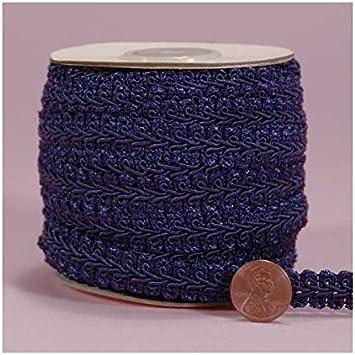 Amazon.com: Azul marino Gimp trenza recortar, 5/8