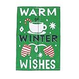 Amosfun Navidad caja de pañuelos cubierta de algodón lino papel toalla servilletero kleenex contenedor de almacenamiento para baño cocina oficina