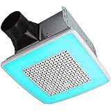 Broan-NuTone AER110RGBL ChromaComfort 110 CFM Ventilation Fan with 24 Color Selectable LED, 1.5 Sones, ENERGY STAR Certified,