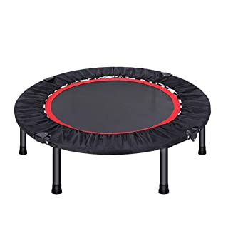 Trampolino 50 '' Large Foldable con Safety Pad, Indoor Mini Exercise Fitness Rebounder per Bambini Adulti (Colore : with handrail)